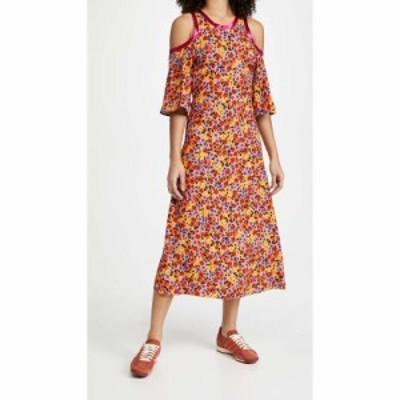 マルニ Marni レディース ワンピース ワンピース・ドレス Floral Cold Shoulder Dress Carrot
