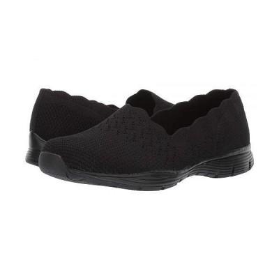 SKECHERS スケッチャーズ レディース 女性用 シューズ 靴 ローファー ボートシューズ Seager - Stat - Black/Black