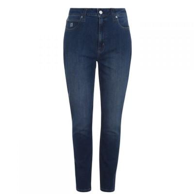 カルバンクライン Calvin Klein レディース ジーンズ・デニム スキニー ボトムス・パンツ 010 High Rise Skinny Jeans Bright Blue
