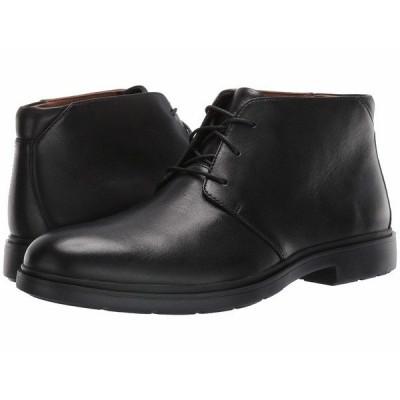 クラークス ブーツ&レインブーツ シューズ メンズ Un Taiior Mid Black Leather