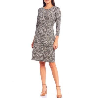 ジェーマクラフリン レディース ワンピース トップス Sophia Python Print 3/4 Sleeve Sheath Dress Charcoal