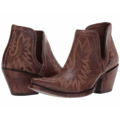 Ariat アリアト レディース 女性用 シューズ 靴 ブーツ アンクル ショートブーツ Dixon Naturally Distressed Brown【送料無料】