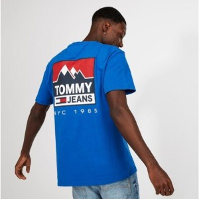 トミー ジーンズ Tommy Jeans メンズ Tシャツ トップス Mountain Back Logo T-Shirt Surf The Web