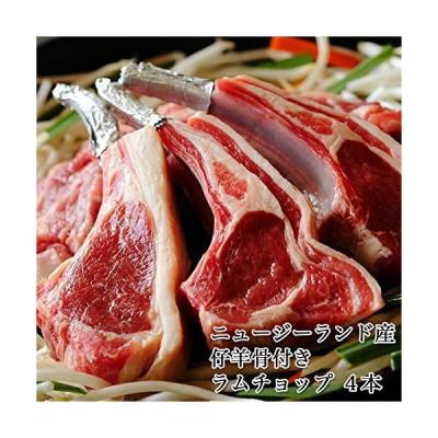 えつすい 羊肉 骨付きロース(ラムフレンチラックチョップ)4本 (冷凍)