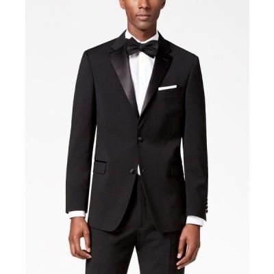 トミー ヒルフィガー ジャケット&ブルゾン アウター メンズ Men's Modern-Fit Flex Stretch Black Tuxedo Jacket Black
