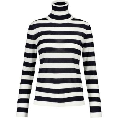 マックスマーラ Max Mara レディース ニット・セーター トップス Adelio striped virgin wool sweater Ultramarine