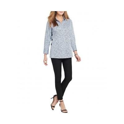 NIC+ZOE ニックアンドゾー レディース 女性用 ファッション ブラウス Petite Naples Tunic Shirt - Blue Multi