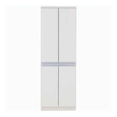 本州・四国は開梱設置無料 フナモコ キッチンストッカー 幅60.9×高さ180cm ホワイト FSW-605 日本製 国産 代引不可