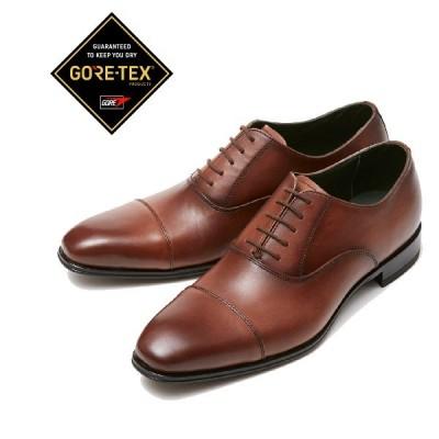 マドラス  madras GORE-TEX M726G 日本製 本革 防水 ビジネスシューズ  紳士靴 内羽根ストレートチップ ライトブラウン