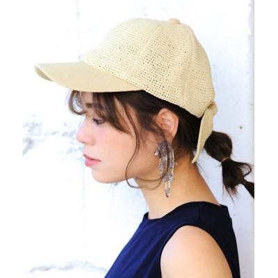 14+(ICHIYON PLUS) / コマ編みリボンCAP / バックリボン キャップ WOMEN 帽子 > キャップ