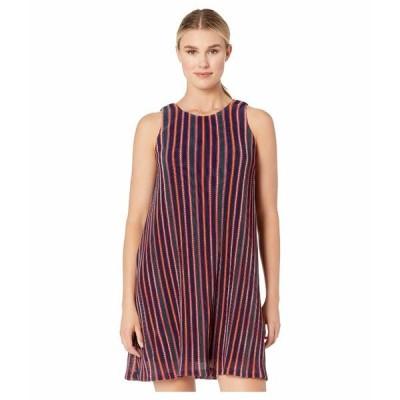 アドリアナ パペル ワンピース トップス レディース Knit Stripe A-Line Dress Red Multi