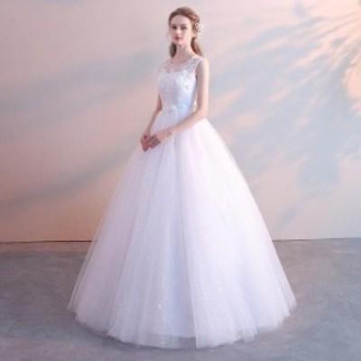 妊婦可 結婚式 花嫁 パーティードレス プリンセスライン ウエディングドレス ブライダル 素敵 ワンピース 大きいサイズ 冠婚 ロング丈ワ