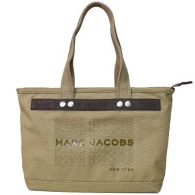 マークジェイコブス バッグ MARC JACOBS キャンバス ユニバーシティ ロゴ ミディアム ショルダー トートバッグ スパニッシュモス M001640