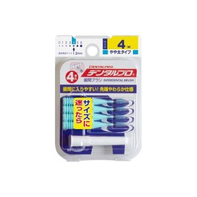【メール便送料無料】デンタルプロ歯間ブラシI字型4Pサイズ4