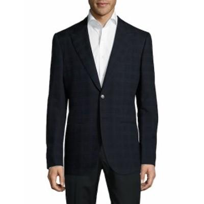 アブラ Men Clothing Checked Peak-Lapel Jacket