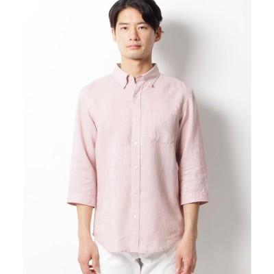 THE SHOP TK(Men)(ザ ショップ ティーケー(メンズ))ベルギーリネン七分袖シャツ