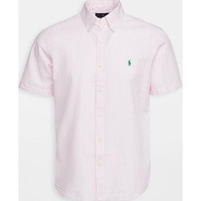 (取寄)ポロ ラルフローレン メンズ ショート スリーブ シアサッカー シャツ Polo Ralph Lauren Men's Short Sleeve Seersucker Shirt Pink White 送料無料