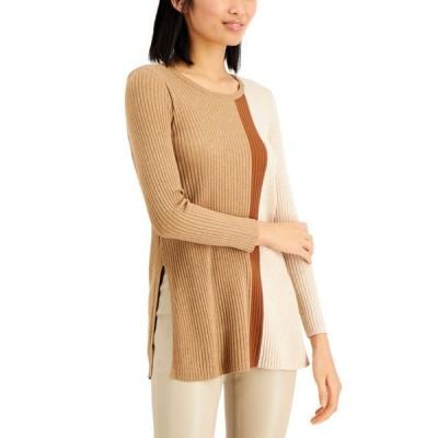 アルファニ レディース ニット・セーター アウター Colorblocked Tunic Sweater, Regular & Petite Sizes