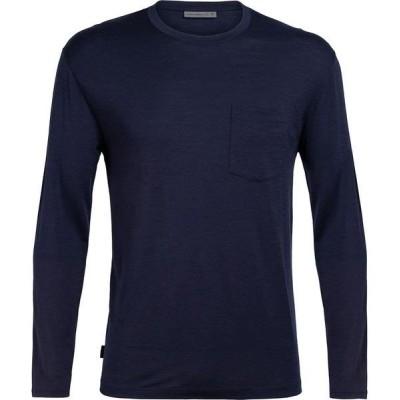 アイスブレーカー メンズ シャツ トップス Ravyn Long-Sleeve Pocket Crew Shirt
