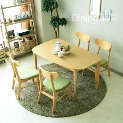 ダイニングテーブルセット 4人掛け 北欧 5点セット 幅130