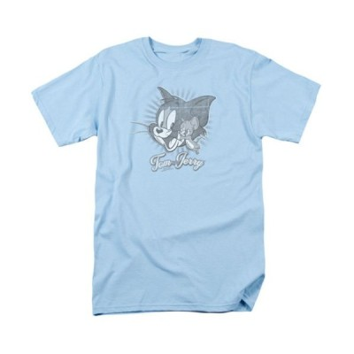 Tシャツ トムとジェリー Tom And Jerry Classic Pals Light Blue Licensed Adult T Shirt