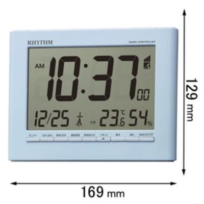 時計 リズム 電波置き掛け兼用時計 フィットウェーブD203 8RZ203SR04 【返品種別A】
