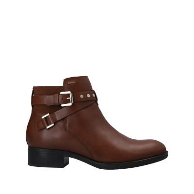 ジェオックス GEOX ショートブーツ ブラウン 36 革 / 伸縮繊維 ショートブーツ