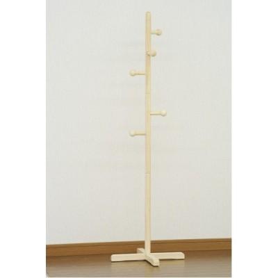 天然木 ポールハンガー/コートハンガー 〔ナチュラル〕 高さ123cm 木製 〔子供部屋家具 整理整頓〕〔代引不可〕
