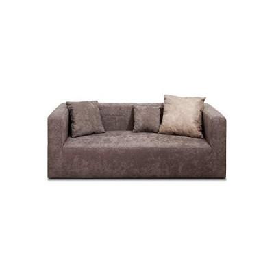 ソファー 3人掛け ファブリック ブリランテ ブラウン 約185×80×65cm ファブリックソファー リビングソファー 肘?