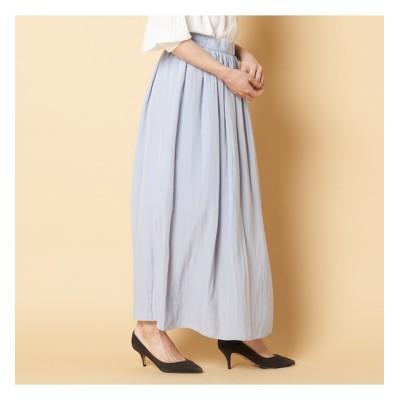 【エリオポール/HELIOPOLE】 HELIOPOLE デシンタックギャザースカート