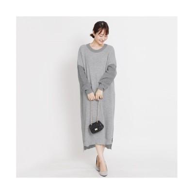 MARTHA(マーサ) バイカラーニットワンピース (ワンピース)Dress