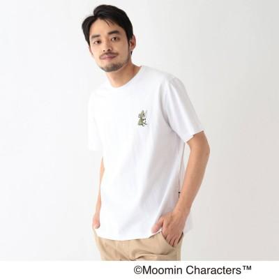 ベース コントロール BASE CONTROL MOOMIN ムーミン / ポケット刺繍 コットン半袖Tシャツ (アイボリー)