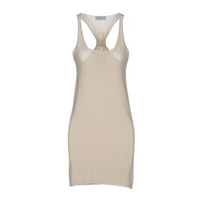 FAIR TRICOT ミニワンピース&ドレス ベージュ S コットン 100% ミニワンピース&ドレス