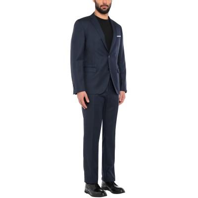 パオローニ PAOLONI スーツ ブルー 56 バージンウール 100% スーツ