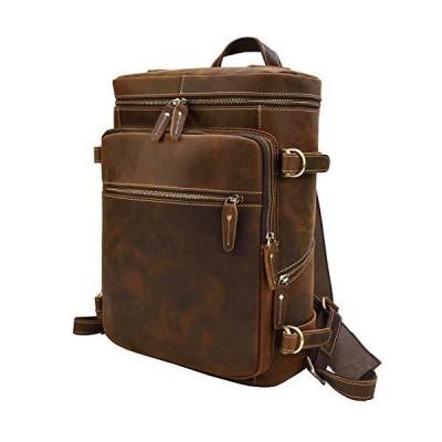 本革 リュックサック メンズ 通勤通学 大容量 ボックス型 バックパック 通勤鞄 15.6インチPC 牛革 ディバッグ A4対応