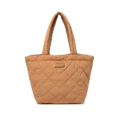 マークジェイコブス レディース トートバッグ バッグ Quilted Nylon Medium Tote Bag BROWN BUTTER