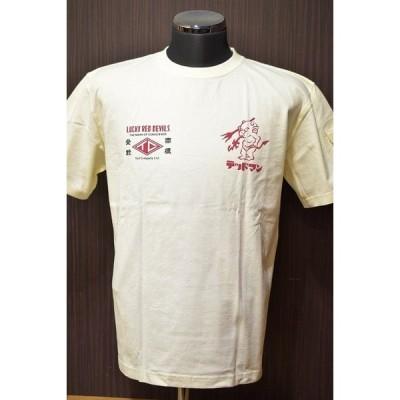 TEDMAN セール 20%オフ TDSS-481 Tシャツ LUCKY RED DEVILS ホワイト