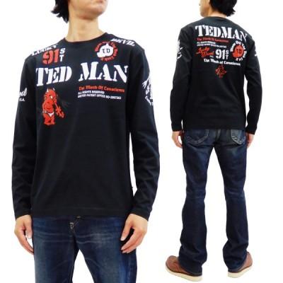 テッドマン 長袖Tシャツ TEDMAN ロンT スタンダードテディ エフ商会 TDLS-338 黒 新品