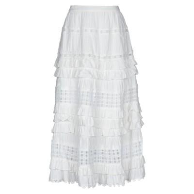 SWEET SECRETS 7分丈スカート ホワイト 40 コットン 100% 7分丈スカート