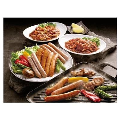国産ポーク焼肉(味付)とソーセージセット 国産 ポーク 豚 豚肉 肉 焼肉 焼き肉 ソーセージ