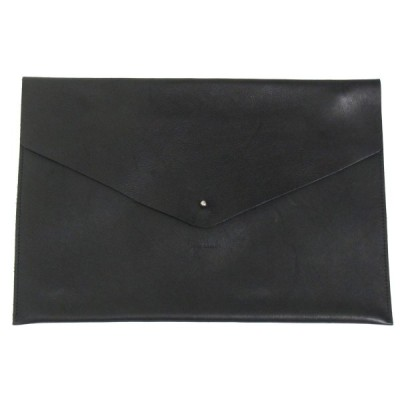 Hender Scheme A4 封筒 レザーポーチ ブラック (三宮店) 201225