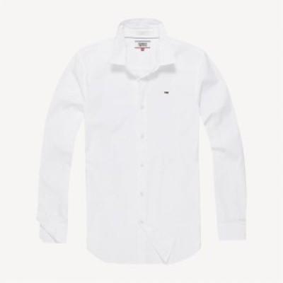 トミー ジーンズ Tommy Jeans メンズ シャツ トップス Stretch Shirt White
