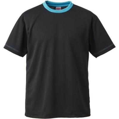 キャブ カジュアル 4.1オンス ドライTシャツ 18 BK/ターコイズBLU Tシャツ(590001c-2072)