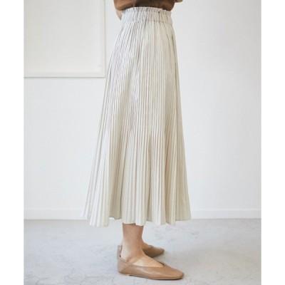 スカート キャンバスプリーツスカート