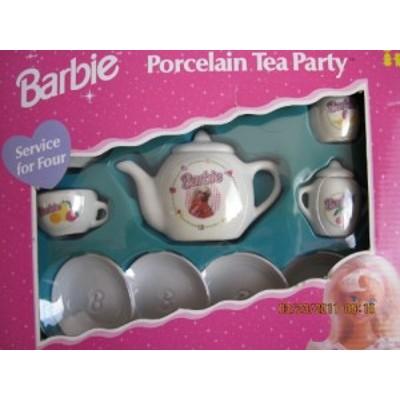 バービーPorcelain TeaパーティーTeaセット???Child Size 13作品Teaセット((中古品)