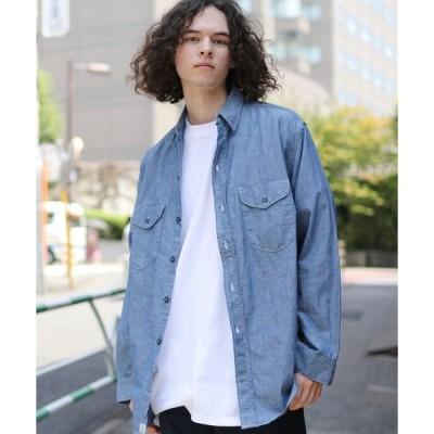 シャツ ブラウス orSlow/オアスロウ UTILITY WORK SHIRT CHAMBRAY シャンブレーワークシャツ