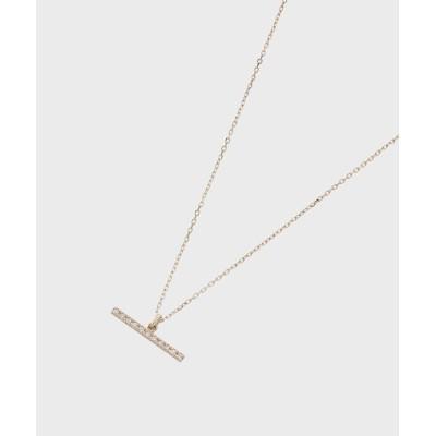 COCOSHNIK(ココシュニック) ダイヤモンド Tバー ネックレス