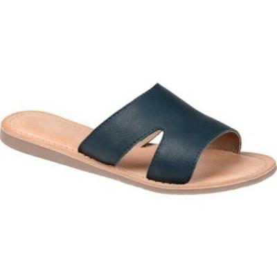 ジュルネ コレクション Journee Collection レディース スリッポン・フラット シューズ・靴 Walker Flat Slide Blue Leather