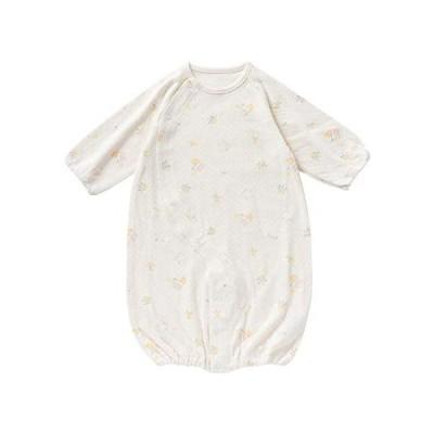 crem de coco メルヘン 柄 接結 ツーウェイオール [股スナップ付け替え/2way] 新生児 赤ちゃん(クリーム 50-70cm)