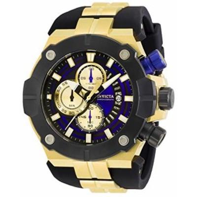 Invicta Mens Sea Hunter Black Silicone Band Steel Case Quartz Blue Dial Analog Watch 29835 送料無料